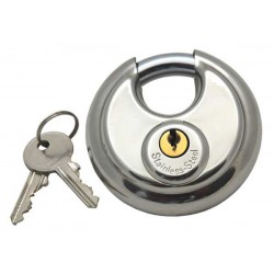 Tri-Circle 70mm Discus Padlock, Stainless Steel