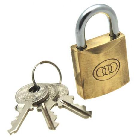 Tri-circle brass padlock, 25mm