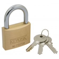 Keyosk Guard brass padlock, 50mm