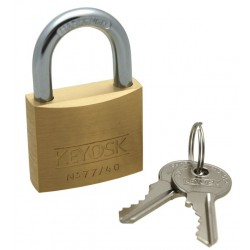 Keyosk Guard brass padlock, 40mm