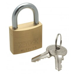 Keyosk Guard brass padlock, 35mm