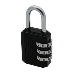 Locker Padlock, 3 Dial Combination, 30mm