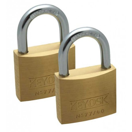 Keyosk Guardpadlock, 40mm, twin card, keyed alike pair