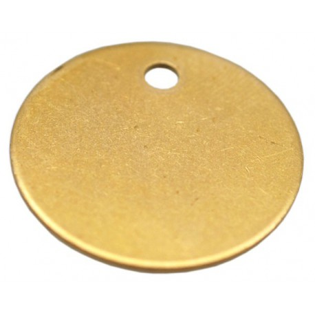 19mm Brass Disc Key Tag