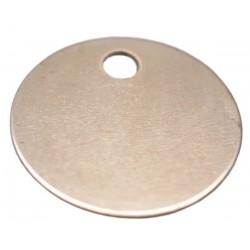 25mm Nickel Plated Brass Disc Key Tag