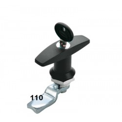 T handle, polyamide, 45mm flat cam, operated by the same key