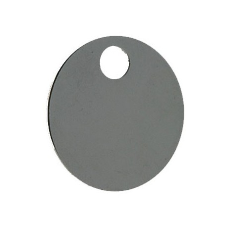 32mm Self Coloured Aluminium Disc Key Tag