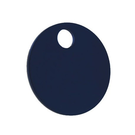 32mm Blue Coloured Aluminium  Disc Key Tag