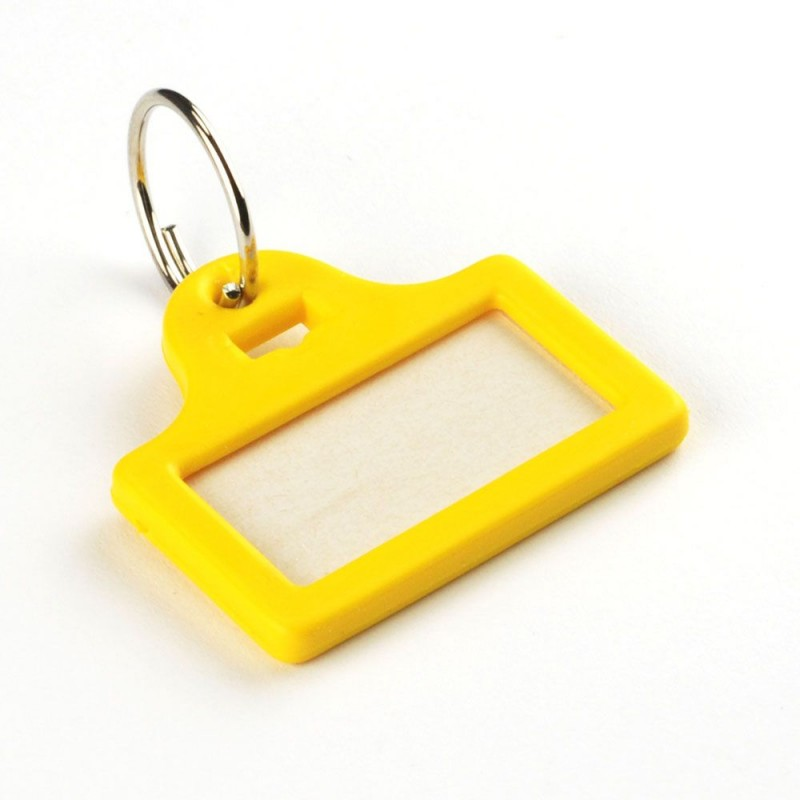 Mini Plastic Key Tags In Four Single Colours
