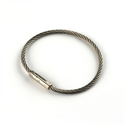 'Twisty' stainless steel security cable key ring