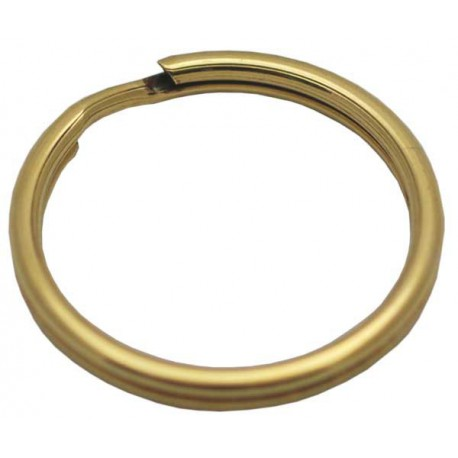 Solid Brass Split Rings, 28mm, loose
