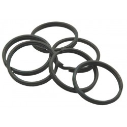 25mm Black Split Rings, 1000 pack