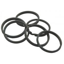 25mm Black Split Rings, 1000 pack
