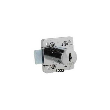 6 disc rim lock, for left hand doors, operated by a different key