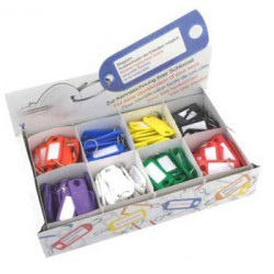 Key Tags, box of 200, assorted colours