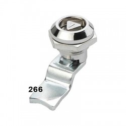 Miniature quarter turn lock, 45° cut-out, 7mm tri drive, 25mm cam