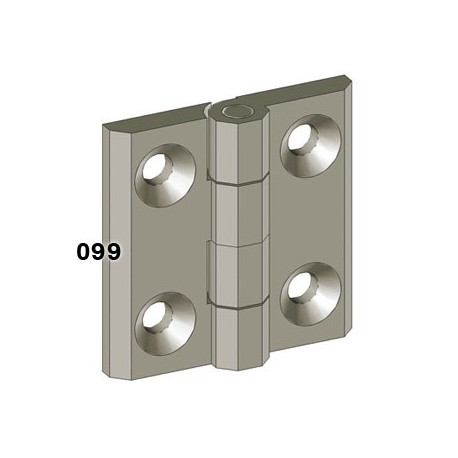 Leaf hinge, 50mm, die-cast alloy, 270
