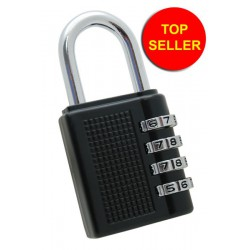 Gym Locker Padlock, 4 Dial Combination, 40mm