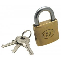 Tri-circle brass padlock, 38mm