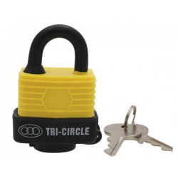 Weatherproof Padlock, 40mm, Mixed Colours