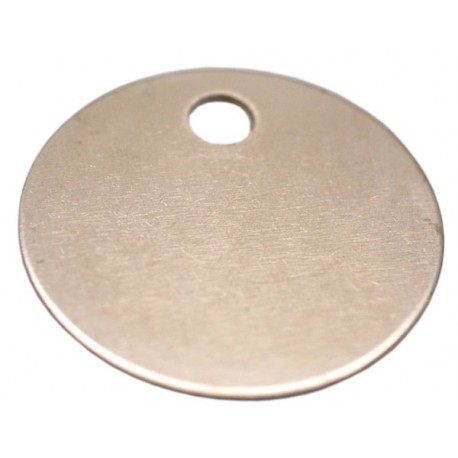 19mm Nickel Plated Brass Disc Key Tag