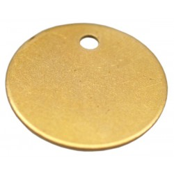 25mm Brass Disc Key Tag