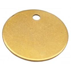 32mm Brass Disc Key Tag