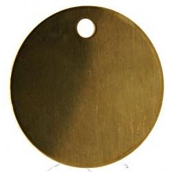 38mm Brass Disc Key Tags