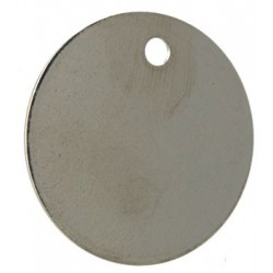 38mm Nickel Plated Brass Disc Key Tags