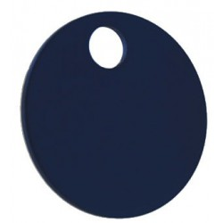 32mm Blue Coloured Aluminium  Disc Key Tag