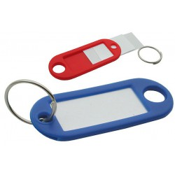 Plastic Key Tags, Single Colours