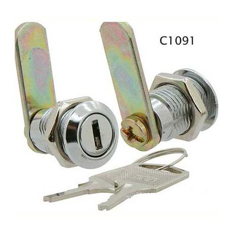 Miniature size 4 disc, 16mm, die-cast cam lock