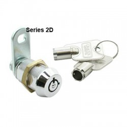 7 pin, die-cast alloy cam lock, 18mm, operated by a different key