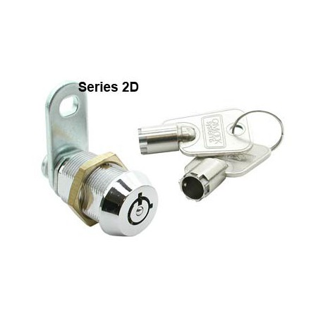 7 pin, die-cast alloy cam lock, 30mm, operated by a different key