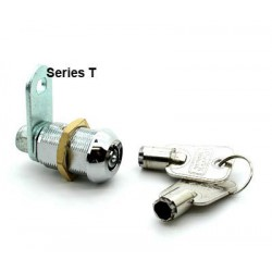 10 pin, solid brass cam lock, 30mm, operated by the same key