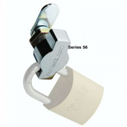 Padlockable, quarter turn latch lock, 90 degree clockwise operation