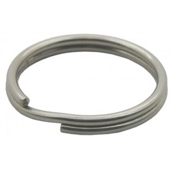 "Stainless steel split rings, 24mm (0.9"") diameter"