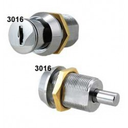 6 disc, double entry pushlock, threaded body, nut fixing, operated by the same key