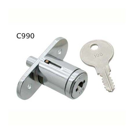 5 disc, flange fixing pushlock, for sliding wooden doors, 'Thrifty', operated by the same key