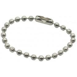 Ball Chain Key Ring, Nickel Plated Steel, 10.2cm