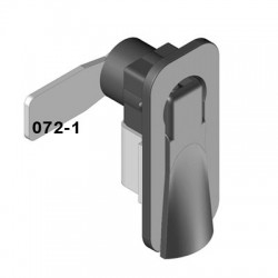 Cam latch to fit a standard 50mm x 25mm cut-out, bolt fixing, left hand operation.
