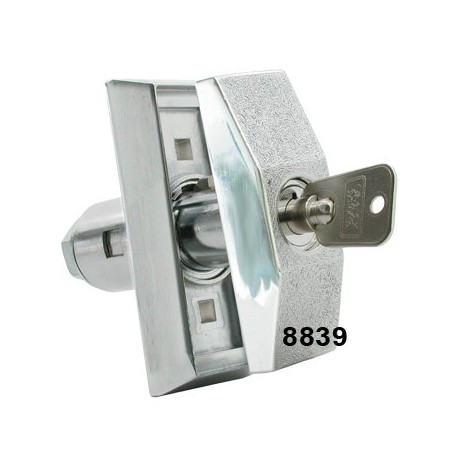 Surface mounted, short length, tubular body T-handle (requires 8871 Insert)