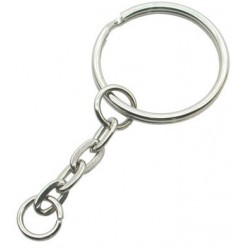 Nickel Plated Key Chain with Split Ring